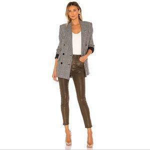 NWT AG Farrah Skinny Ankle Coated Wax Jeans